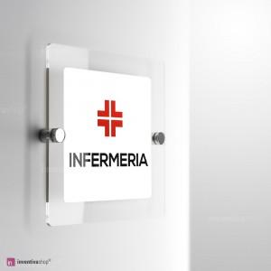 Cartello Plex: Infermeria monofacciale a parete