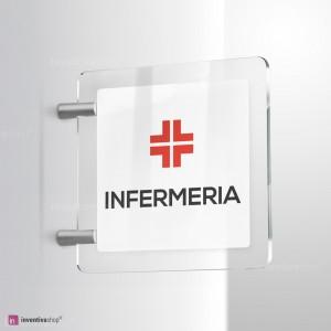 Cartello Plex: infermeria bifacciale