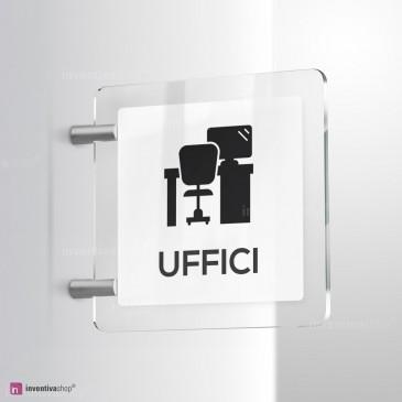 Cartello Plex: Uffici bifacciale