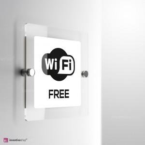 Cartello Plex: WiFi monofacciale a parete