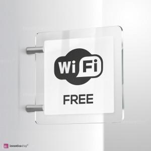 Cartello Plex: WiFi bifacciale