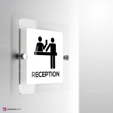 Cartello Plex: Reception monofacciale a parete