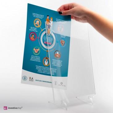 Espositore da banco A4: foglio illustrativo prevenzione CoronaVirus