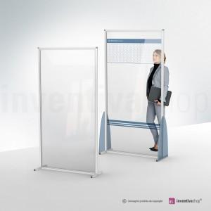 Pareti divisorie: plexiglass e alluminio