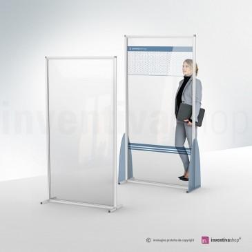 Divisore da pavimento plexiglass e alluminio: modello Simple e Color