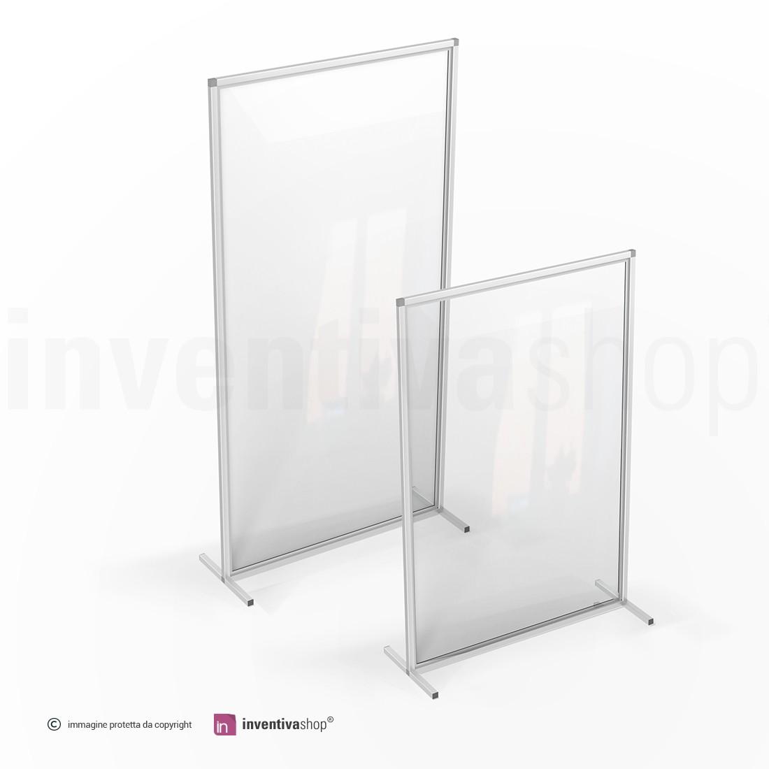 Divisori In Plexiglass Per Esterni pareti divisorie: plexiglass e alluminio -