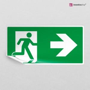 Adesivo uscita di emergenza rettangolare 2-1