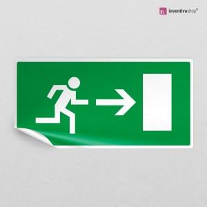 Adesivo porta di emergenza rettangolare 2-1