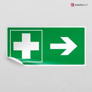 Adesivo Croce Pronto soccorso direzionale rettangolare 2-1