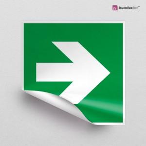 Adesivo Freccia uscita d'emergenza E005-E006