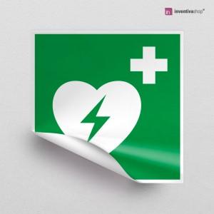 Adesivo Defibrillatore d'emergenza E010