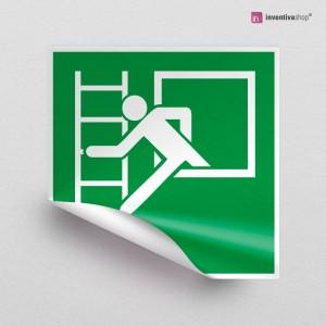 Adesivo Finestra con scala d'emergenza E016