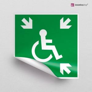 Adesivo Rifugio d'evacuazione temporaneo disabili E024