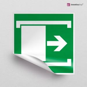 Adesivo Porta a scorrimento destra/sinistra E033-E034