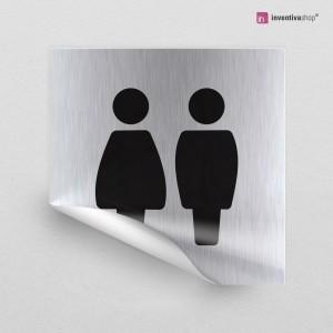 Adesivo Toilette Bold quadrato