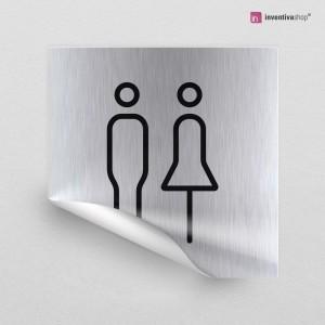 Adesivo Toilette Line quadrato
