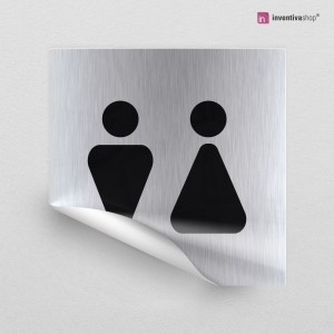 Adesivo Toilette Triangle quadrato