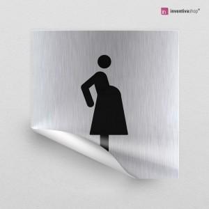 Adesivo Donna incinta quadrato
