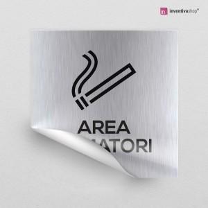 Adesivo Area fumatori quadrato