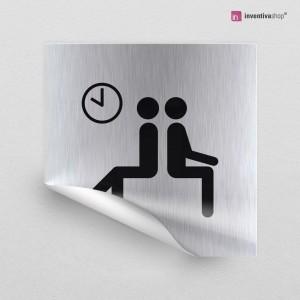 Adesivo Sala d'attesa quadrato