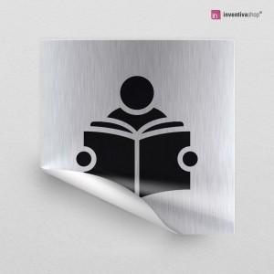 Adesivo Sala lettura quadrato