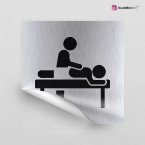 Adesivo Sala massaggi quadrato
