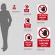 Cartello vietato uscire in Plexiglas: misure disponibili