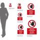Cartello vietato l'ingresso ai non addetti: misure alluminio/adesivo