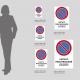 Cartello vietato parcheggiare - solo veicoli autorizzati: misure plexiglass