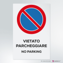 Adesivo vietato parcheggiare