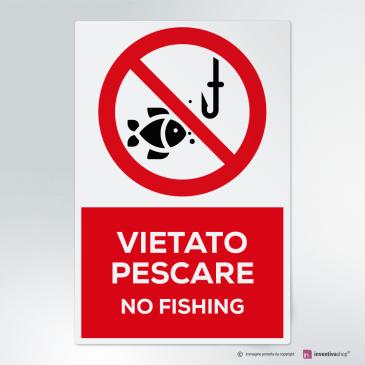 Cartello vietato pescare