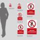 Cartello vietato appoggiarsi: misure plexiglass