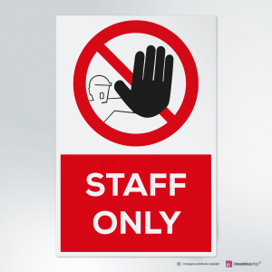 Cartello multi-materiale: Staff only