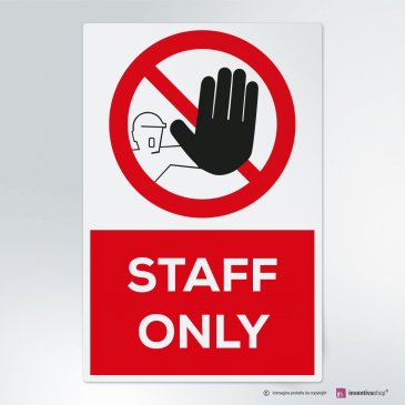 Cartello Staff only