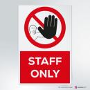 Cartello Staff only