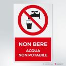Cartello Non bere - acqua non potabile