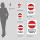 Cartello vietato l'accesso: misure plexiglass