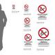 Cartello vietato fumare con leggi: misure adesivo / alluminio