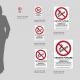 Cartello vietato fumare con leggi: misure plexiglass