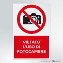 Adesivo vietato l'uso di fotocamere