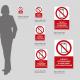 Cartello vietato fotografare e fare video con lo smartphone: misure plexiglass