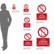 Cartello vietato fotografare e fare video con lo smartphone: misure adesivo / alluminio