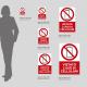 Cartello vietato l'uso dei cellulari: misure plexiglass