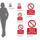 Cartello vietato l'uso dei cellulari: misure adesivo / alluminio