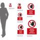 Cartello vietato entrare senza permesso: misure adesivo / alluminio