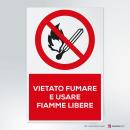 Adesivo vietato fumare e usare fiamme libere