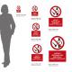 Cartello vietato entrare con orologi e oggetti metallici: misure adesivo / alluminio