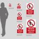Cartello vietato gettare rifiuti: misure plexiglass