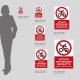 Cartello vietato appoggiare biciclette: misure plexiglass