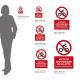 Cartello vietato appoggiare biciclette: misure adesivo / alluminio
